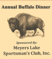 Meyers Lake Sportsman's Club Annual Buffalo Dinner
